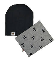 Комплект шапка и шарф демисезонные 55-63