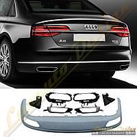 Диффузор стиль W12 для Audi A8