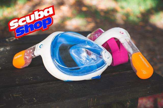 Полнолицевая маска Tribord Easybreath PINK для снорклинга