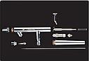 Аэрограф TG182N двойного действия, конусное сопло 0,7мм серия PRO-K, фото 2