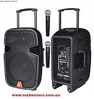 Аккумуляторная колонка + 2 радиомикрофона MAX15MBAW