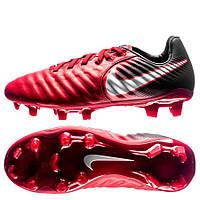 Бутсы пластик Nike red Tiempo Legend VII FG, фото 1
