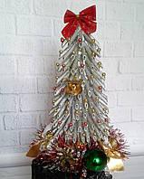 Новогодняя елочка - сувенир  из макарон - серебряная-подарок на Новый год 2019, фото 1