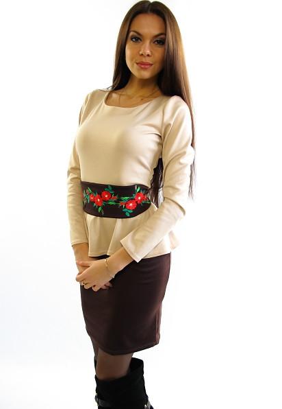 Оригінальне плаття з вишивкою. Модель Олеся..