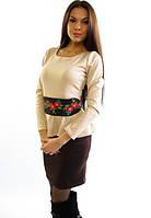 Оригинальное платье с вышивкой. Модель Алеся..