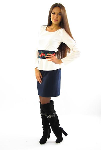 Оригинальное платье с вышивкой. Модель Алеся