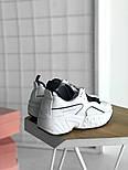 Женские кроссовки Acne Studios White Black. Живое фото. Люкс реплика ААА+, фото 2