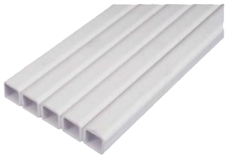 Труба квадратная пластиковая 22 х 22 мм для ниппельных систем поения. Цена за м/пог., фото 2