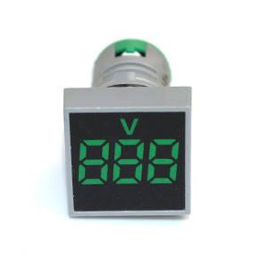 Вольтметр квадратний електронний зелений