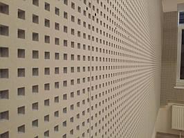 Кнауф Акустика, квадратная перфорация, 2м.*1,2м.*12,5мм.