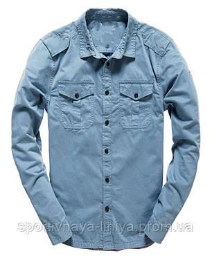 Мужская голубая рубашка , фото 2