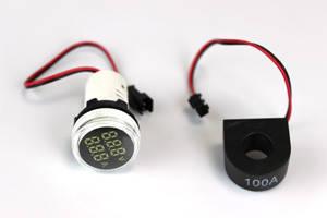 Цифровий вольтметр-амперметр АВаТар 500 В/100 А круглий білий (ST 73 01 10)