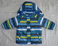 Куртка зимняя Loustic в полоску голубая (QuadriFoglio, Польша)