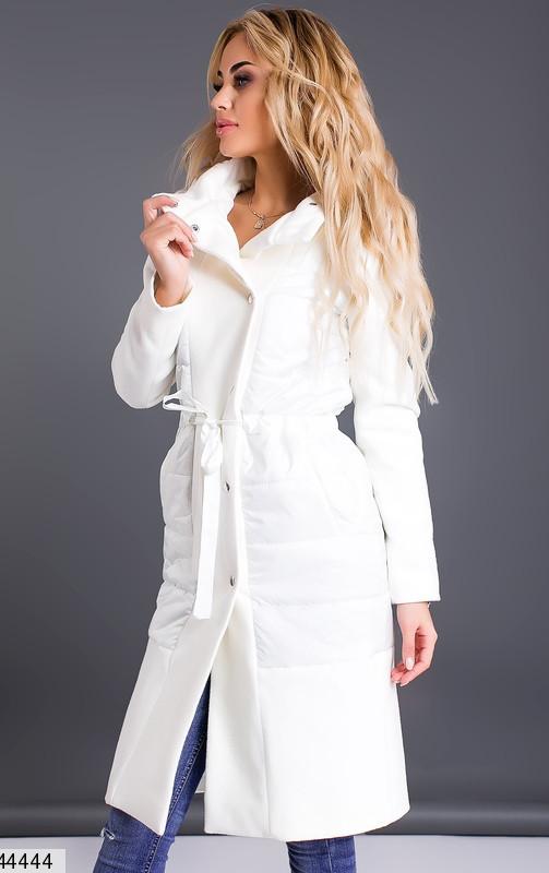 2c2b72611ae Белое пальто женское осень весна размеры 42-46 - Интернет - магазин