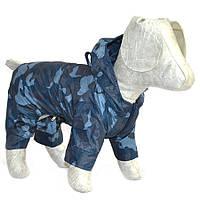 Дождевик для собак Камуфляж синий