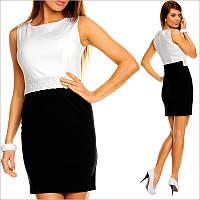 Черно-белое платье с кружевом, короткое платье