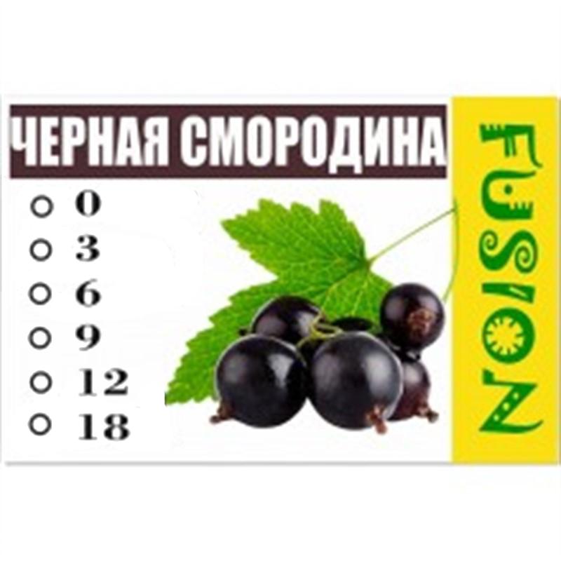 FUSION Жидкость для электронных сигарет. Фруктовые вкусы. Черная смородина, 9 мг