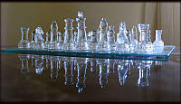 Шахматы стеклянные размер:35х35х0,3см. JB01