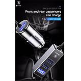 Зарядное устройство Baseus Enjoy Together Four Interfaces Output Patulous Car Charger 5.5A Black (CCTON-0G). Т, фото 6