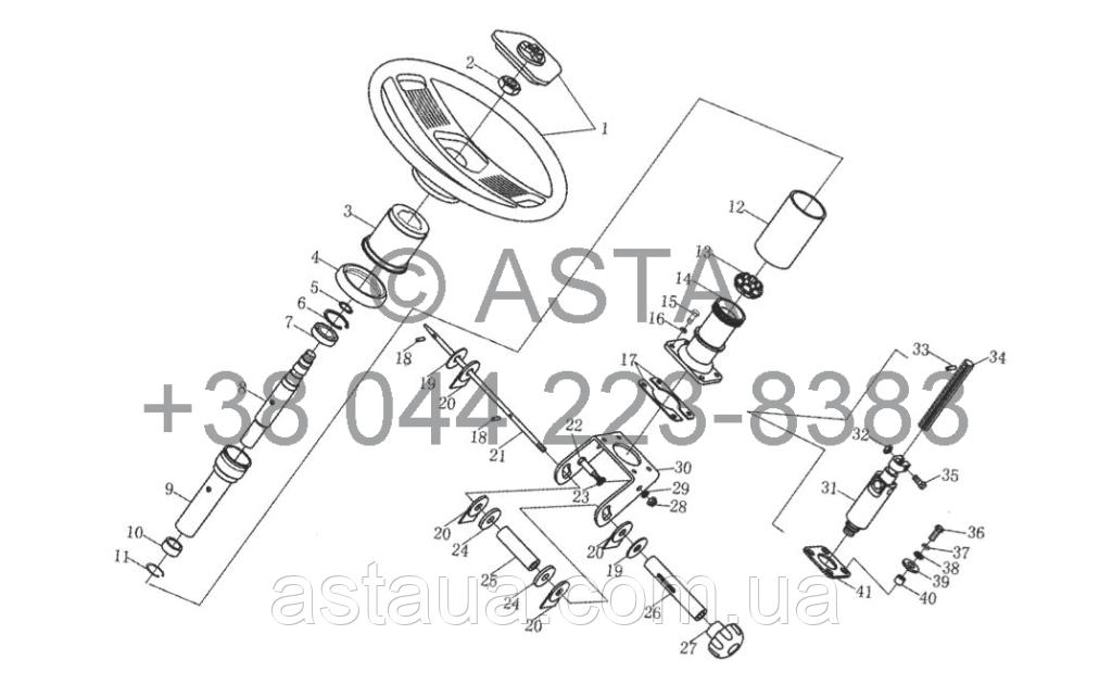 Рулевой механизм в сборе II (опция) на YTO X1254