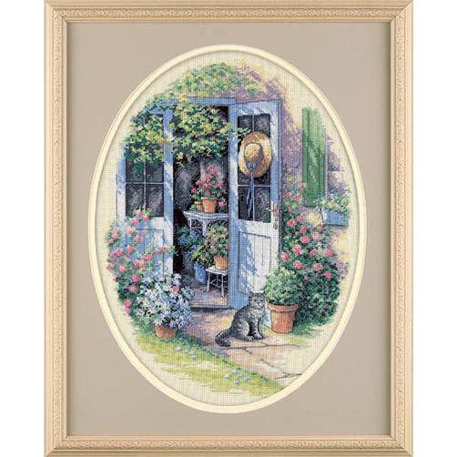 Набор для вышивания крестом Садовая дверь/Garden Door DIMENSIONS 35124