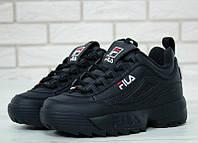 Женские кроссовки Fila Disruptor 2 Black 36, фото 1