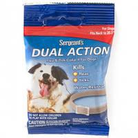 SENTRY Sergeants Dual Action ПОДВІЙНЕ ДІЮ нашийник від бліх та кліщів для собак середніх порід, M, до 52 см