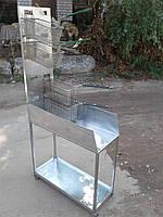 Тележка для корзин под фритюрницу б/у, подставка  для стикания жира фритюрницы, аксессуар для фритюрницы