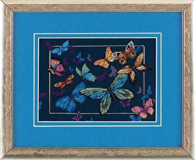 Набор для вышивания крестом Экзотические бабочки/Exotic Butterflies DIMENSIONS 06846