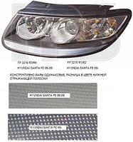 Фара передняя для Hyundai Santa Fe '10-12 CM правая (DEPO) механическая/под электрокорректор