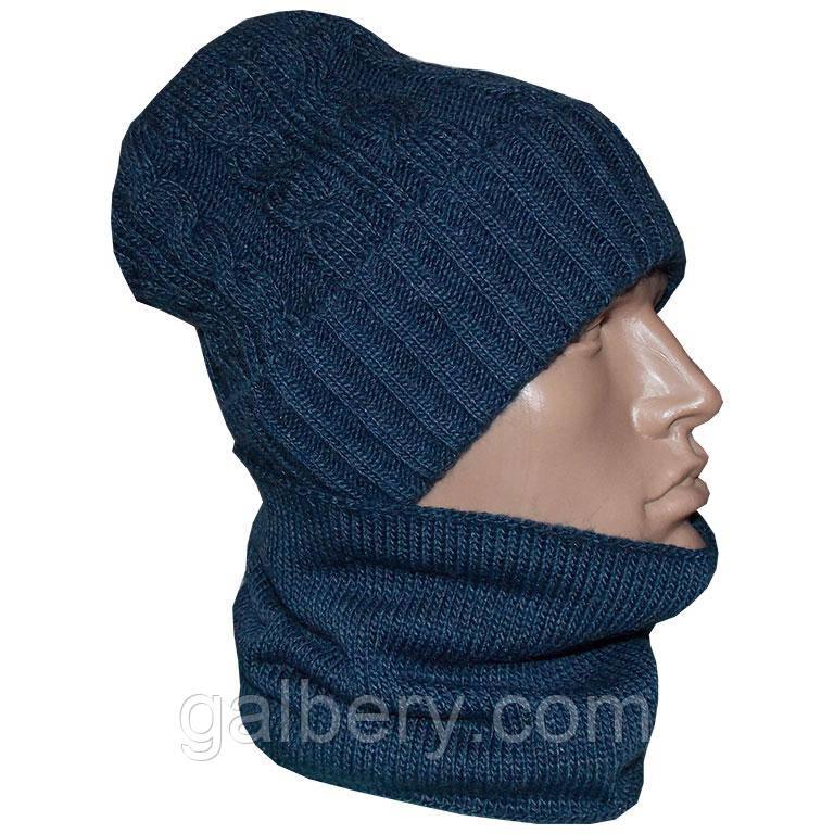 Чоловіча шапка і шарф - бафф