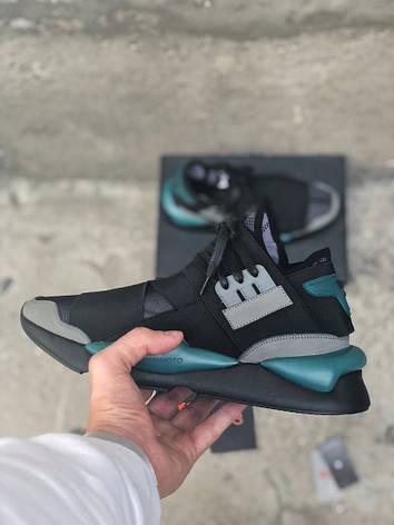 Мужские кроссовки в стиле Y-3 Qasa x Kaiwa Chunky Black\Blue, фото 2