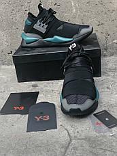 Мужские кроссовки в стиле Y-3 Qasa x Kaiwa Chunky Black\Blue, фото 3