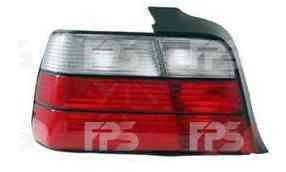 Фонарь задний для BMW 3 E36 седан '90-99 левый (DEPO) красно-белый