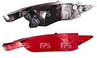 Фонарь задний для Ford Fiesta '09- правый (DEPO) в бампере, заглушка