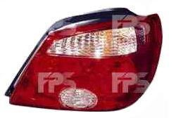 Фонарь задний для Mitsubishi Outlander '05-07 правый (DEPO) красно-белый