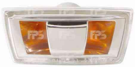 Указатель поворота на крыле Opel Corsa D '06- левый, серый (прозрачный) (DEPO)