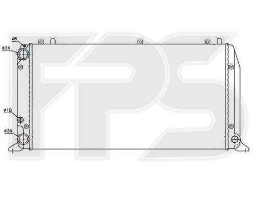 Радиатор охлаждения AUDI 80 / 90 86-91/80 / 90 91-94