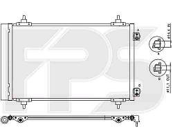 Радиатор CITROEN_JUMPY 07-, FIAT_SCUDO 07-, PEUGEOT_EXPERT 07-