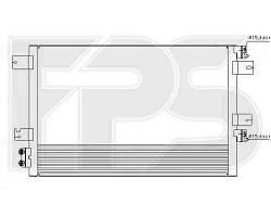 Радиатор кондиционера Dodge (Nissens) FP 24 K73