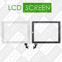 Тачскрин (touch screen, сенсорный экран) для планшета Apple iPad 2, белый, с защитным стеклом