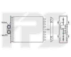 Радиатор печки OPEL VECTRA B 95-99 VECTRA B 99-02