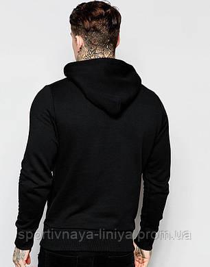 Мужская черная кофта (худи)  , фото 2