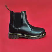 Женские кожаные ботинки/челси в стиле Dr. Martens Chelsea Black