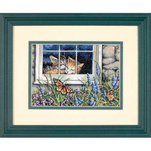 Набор для вышивания крестом Кошачья любовь/Feline Love DIMENSIONS 65051