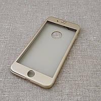 Чехол iPaky 360+стекло iPhone 8 Plus/7 Plus gold