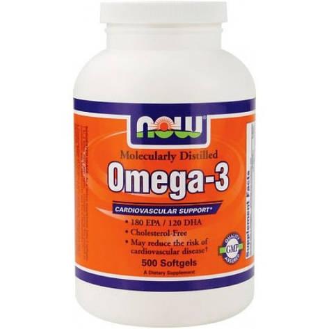 NOW Omega-3 500 softgels, фото 2