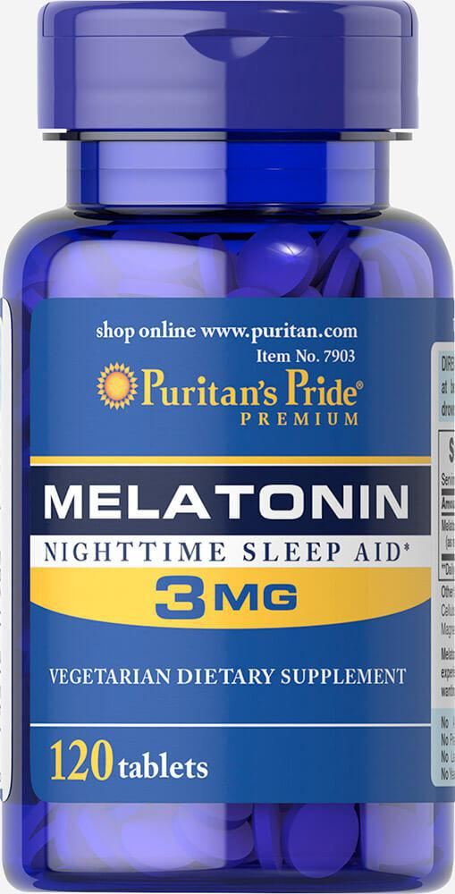 Puritan's Pride Melatonin 3 mg 120 tabs