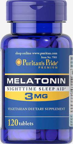 Puritan's PrideMelatonin 3 mg 120 tabs, фото 2