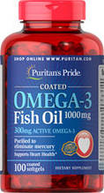 Омега 3 жирные кислоты Puritan's Pride Omega-3 Fish Oil 1000 mg 100 softgels